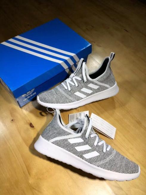 2018 adidas neo CLOUDFOAM PURE Grey White