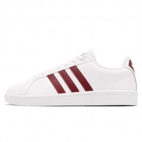 adidas Cloudfoam Advantage Footwear White Collegiate Burgundy Core Black DA9636