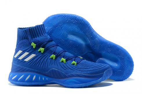 Adidas Crazy Explosive 2017 Men Basketball Shoes Deep Blue Black White