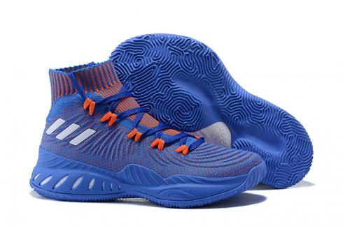Adidas Crazy Explosive 2017 Men Basketball Shoes Royal Blue Orange