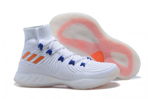 high quality save off sports shoes Adidas Crazy Explosive 2017 Men Basketball Shoes White Orange Blue BY4470