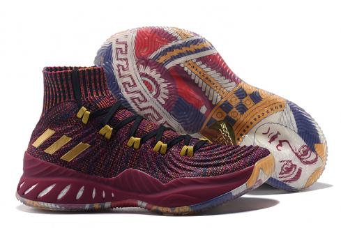 Adidas Crazy Explosive Boost PK Men Basketball Shoes Wine Red Yellow