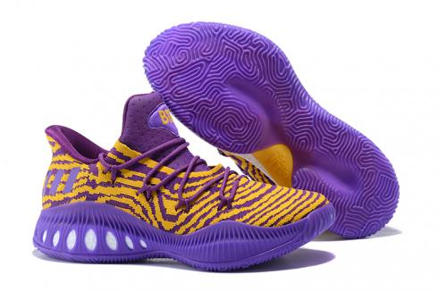 Adidas Crazy Explosive Boost Low PK Men Basketball Shoes Laker Purple