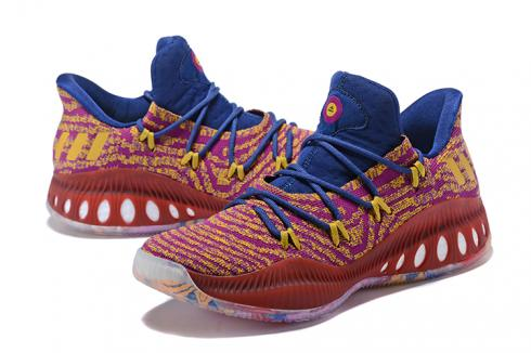 Adidas Crazy Explosive Boost Low PK Men Basketball Shoes Wine Red Blue CQ1599 - Yezshoes