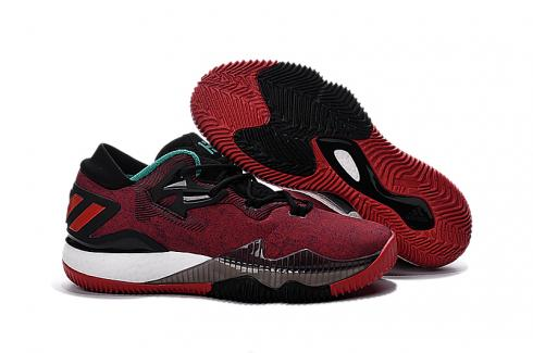 Adidas Crazy Light Boost 2.5 Low Men Basketball Shoes Black Red New