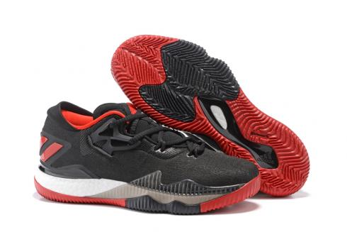 Adidas Crazy Light Boost 2.5 Low Men Basketball Shoes Black Red White