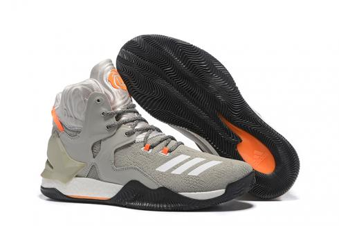 Adidas D Rose 7 Rose High Men Basketball Grey Orange