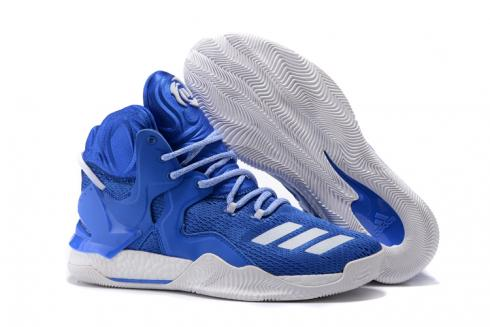 Adidas D Rose 7 Rose Men Basketball Shoes Royal Blue White
