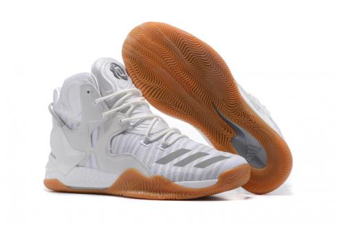 Adidas D Rose 7 Rose Men Basketball Shoes White Grey Brown