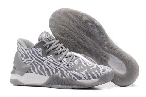 Adidas D Rose 7 Low Rose Men Basketball Shoes Light Grey White Brown Special