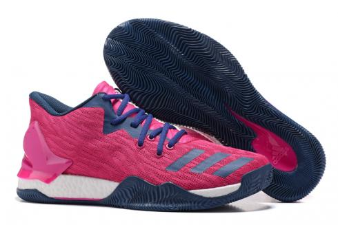 Adidas D Rose 7 Low Rose Men Basketball Shoes Rose Red Blue White