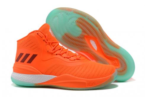 Adidas D Rose 8 Rose Men Basketball Shoes Orange White Green White