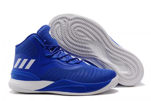 Adidas D Rose 8 Rose Men Basketball Shoes Royal Blue White