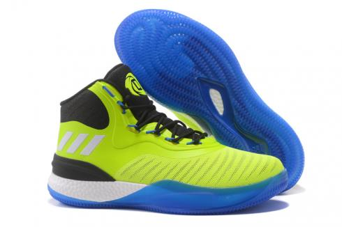 Adidas D Rose 8 Rose Men Basketball Shoes Yellow Black White