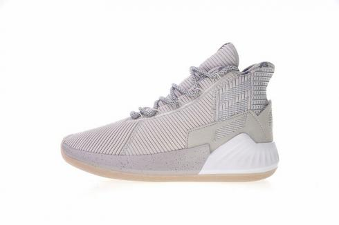 Adidas D Rose 9 Grey White Men Basketball Shoes Sneakers BB7159