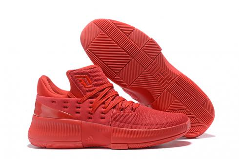 Adidas Dame 3 D Lillard Basketball Shoes All Chinese Red