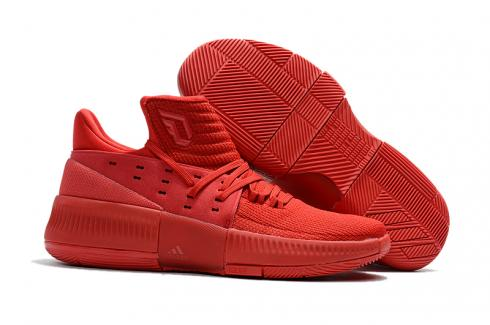 Adidas Dame 3 D Lillard Basketball Shoes Chinese Red All