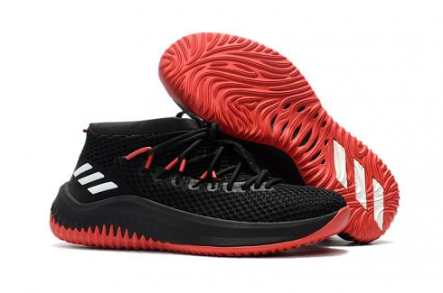 Adidas Dame 4 D Lillard Basketball Shoes Black Red White