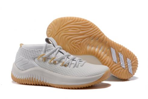 Adidas Dame 4 D Lillard Basketball Shoes Light Grey Brown BY4496