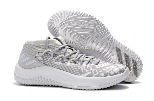 sagrado seriamente paridad  Adidas Dame 4 D Lillard Basketball Shoes Light Grey White 779901 - Yezshoes