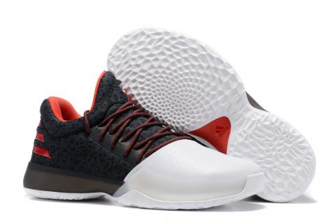 Adidas Harden Vol 1 Men Basketball Shoes Black White Red