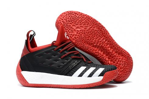 Adidas Harden Vol 2 Men Basketball Shoes Black White Red
