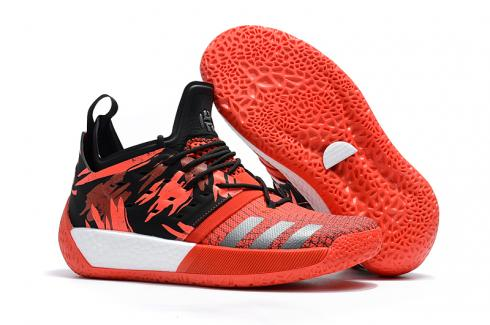 Adidas Harden Vol 2 Men Basketball Shoes Red Black Silver
