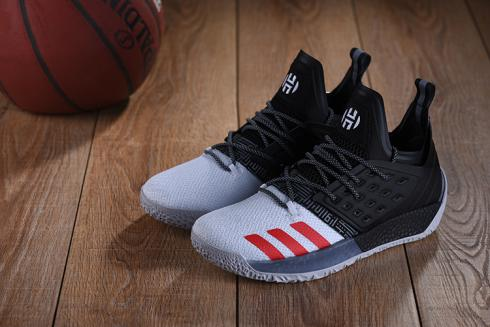 Adidas Harden Vol 2 Men Basketball Shoes White Black Red New