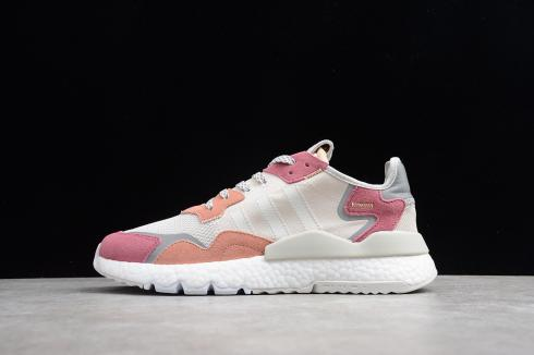 Adidas Nite Jogger 2019 Boost 3M Grey Light Pink Red White DA8666