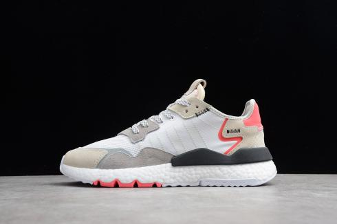 new release factory outlets best sell Adidas Nite Jogger 2019 Boost 3M White Red Grey F34123
