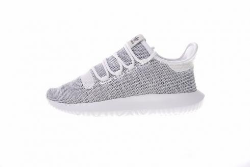 Adidas Tubular Shadow Knit Athletic Sneaker Grey White Bb8941