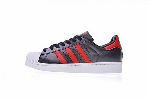 Adidas Original Superstar Sneakers Shoes Black Red Foot Wear S75874