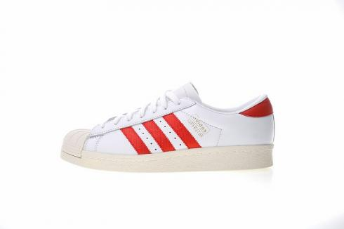 Adidas Originals Superstar OG Shoes Core White Red Shelltoes CQ2477