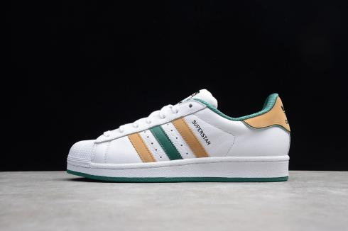 Adidas Originals Superstar White Yellow Green D96978