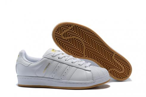 Adidas SuperStar Boost SB Shoes White Gold
