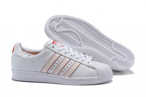 Adidas SuperStar Boost SB Shoes White Red