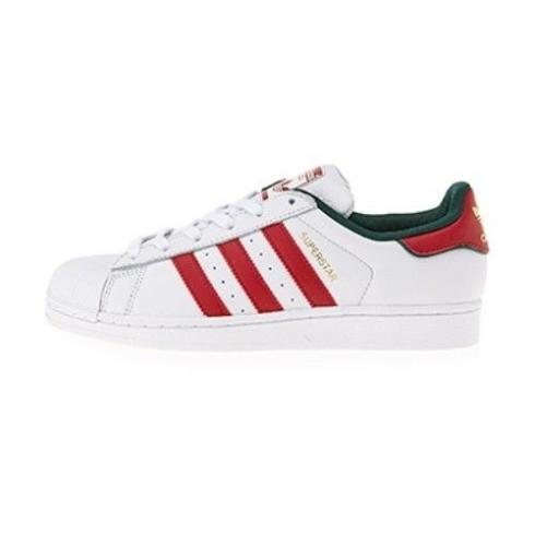 Adidas Superstar Casual Shoes White Red