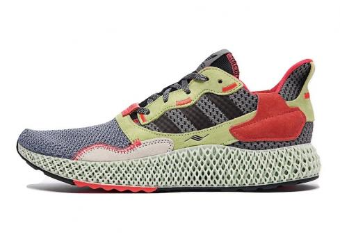 adidas ZX 4000 4D Yellow Crimson Grey Three Core Black Hi Res BD7927