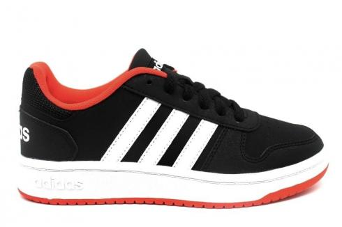 Adidas HOOPS 2 Black Orange White Kids Shoes B76067