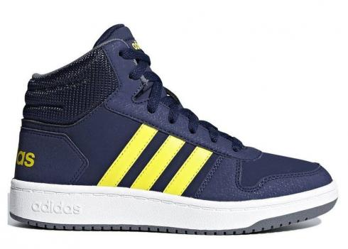 Adidas HOOPS 2 MID Navy Yellow Womens Shoes Kids B75745