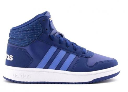 Adidas HOOPS 2 MID White Blue Womens Shoes Kids B75748