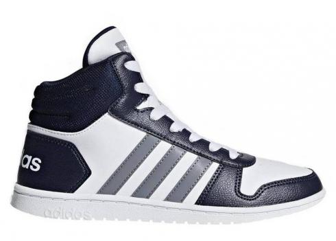 Adidas HOOPS 2 MID White Navy Blue Womens Shoes Kids DB1478