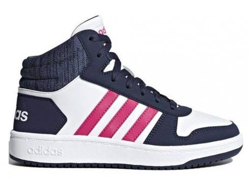 Adidas HOOPS 2 MID White Navy Pink Womens Shoes Kids B75746
