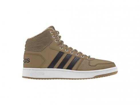 Adidas HOOPS 2 Mid Black Beige Shoes B76067