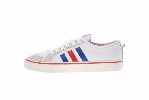 Adidas NIZZA LO Classic Sneakers White Blue Red AF6288