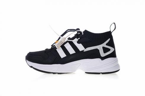 Adidas Originals Falcon Suede Casual Shoes Black White BC0697