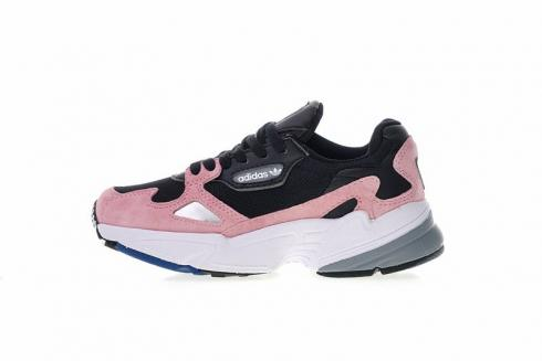 Adidas Originals Falcon Suede Casual Shoes Core Black Light Pink BB9174