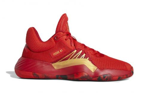 adidas D.O.N. Issue 1 Iron Spider Red Power Gold Metallic EG0490