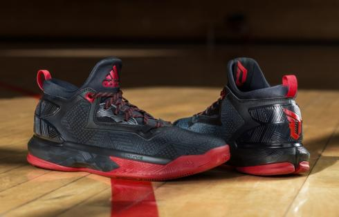adidas D Lillard 2 - Away Black Red F37124