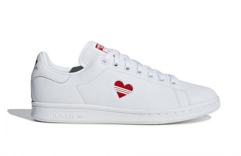 adidas WMNS Stan Smith Valentines Day Cloud White Active Red G27893